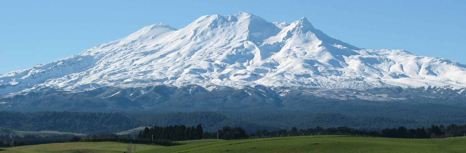 Mount Ruapehu With Turoa And Whakapapa Ski Fields